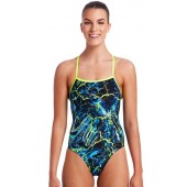 Funkita Womens Midnight Marble Strapped In One Piece