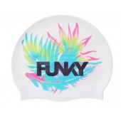 Funky Palm Off Silicone Swim Cap