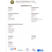 Poole Swimming Club Kit List