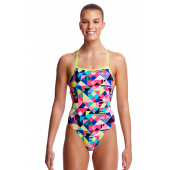 Funkita Womens Purple Patch Strapped In One Piece