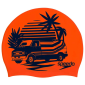 Speedo Slogan Print Cap - Orange/Blue