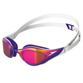 Speedo Fastskin Pure Focus Mirror Goggles - White Purple